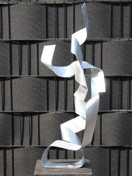 Aluminiumkunst Round Edge exkl. Sockel