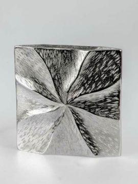 Vase Aluminium viereckig