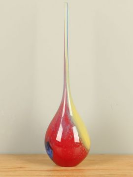 Glaskegel rot/blau/gelb
