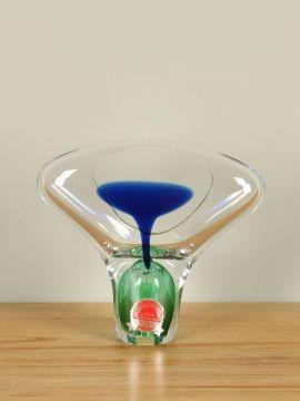 Skulptur Jablonski grün/blau