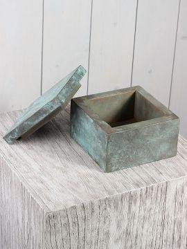 Dose mit Metallage Bronze