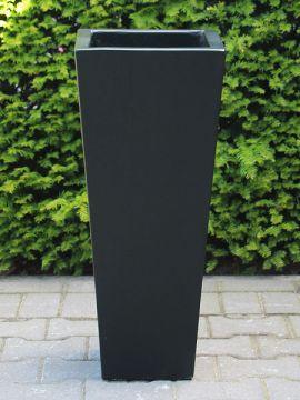 Blumenkästen für draußen leichtbeton 100*40 cm schwarz