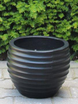 UV-beständige Blumenkästen leichtbeton 27*34 cm. schwarz