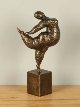 Dekofigur Dame Ballett Bronze