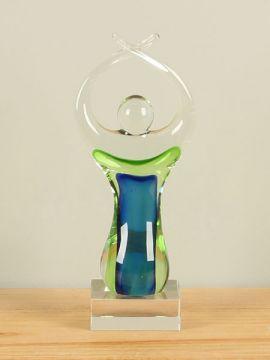 Figur Glas blau/gelb RF2038
