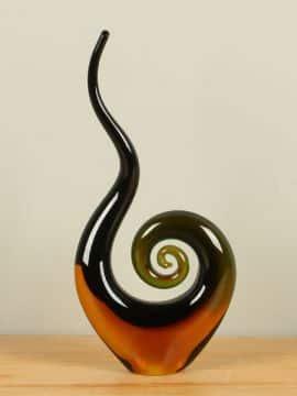 Objekt Glas braun/schwarz