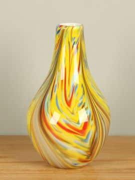 Glasvase mehrfarbig 30 cm