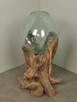 Vase Glas auf Baumstumpf DS/V-3
