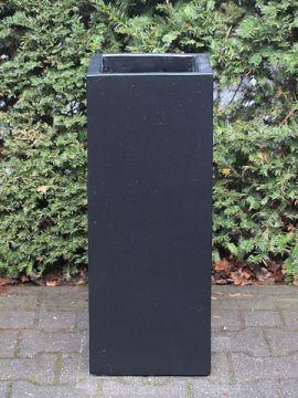 Blumenkästen für draußen leichtbeton farbe schwarz 70*27*27 cm.