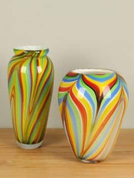 Satz Glas Vase farbig