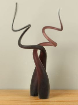 Satz 2 Glasskulpturen mattiert