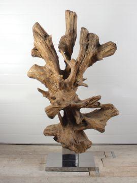 Holzskulptur Teakholz 63 GJ