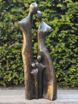 Gartenstatue Bronze Familie XL
