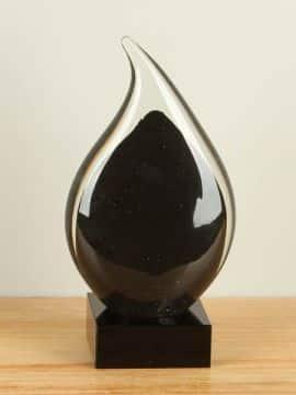 Urne Glas schwarz SCGU-0050