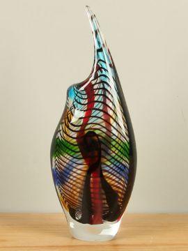 Vase farbig mit schwarzen Linien