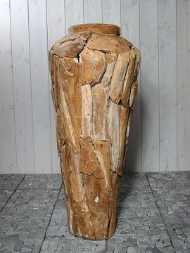 Vase aus Teakholz 100 cm. YA-17