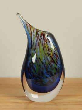 Vase bunt aus Glas 24 cm