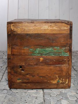 Hocker / Säule Holz viereckig ROHU-01