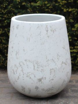 Leichtbeton Blumentopf 50*36 cm. weiß