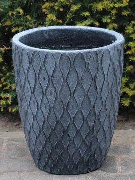 Leichtbeton Pflanzgefäß 30*26 cm. farbe grau
