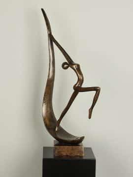 Bronzefigur Sprong XL