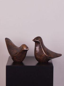 Statue Bronze Taube Abstrakt