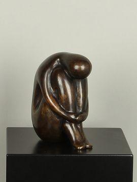 Skulptur Bronze Denkertje groß