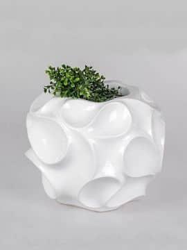 Vase Keramik wellen