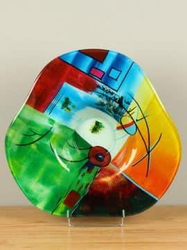 Schale Glas Grundfarben