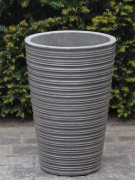 Winterharte Pflanzgefäß leichtbeton 42*28 cm. anthrazitfarbe
