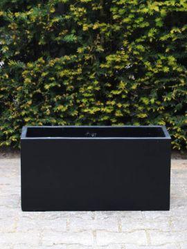 Garten-Blumenkübel leichtbeton 30*60*22 cm. schwarz