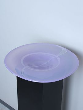 Schale Glas lila LO-12