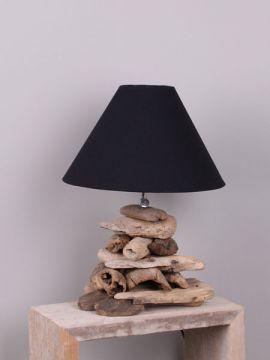 Schirmlampe aus Holzstücken 40 cm