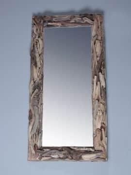 treibholz-Spiegel 120x70 cm.