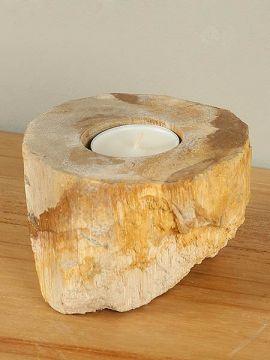 Windlicht Fossiles Holz nr. 11