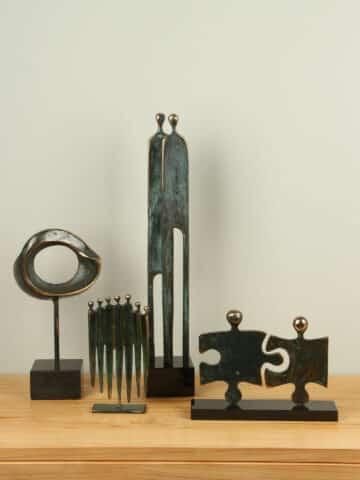 Exklusiven Bronzefiguren