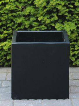 Blumentopf für draußen leichtbeton 20*20 cm. schwarz