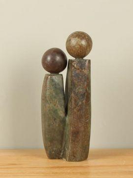 Skulptur Naturstein Two People nr. 3
