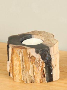 Windlicht Fossiles Holz nr. 28